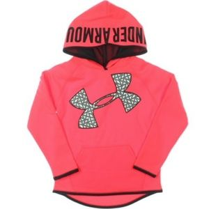 Under Armour GIRL'S Sweater Hoodie Pink M
